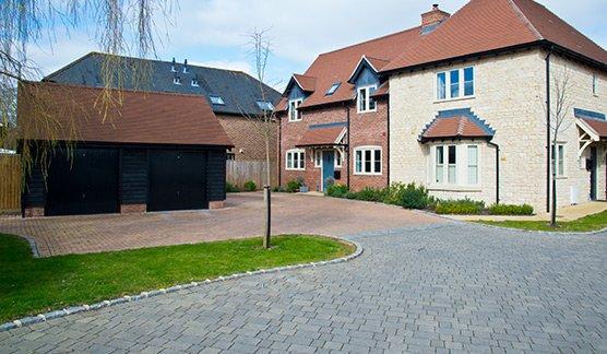 Large Driveways Milton Keynes on new housing estate